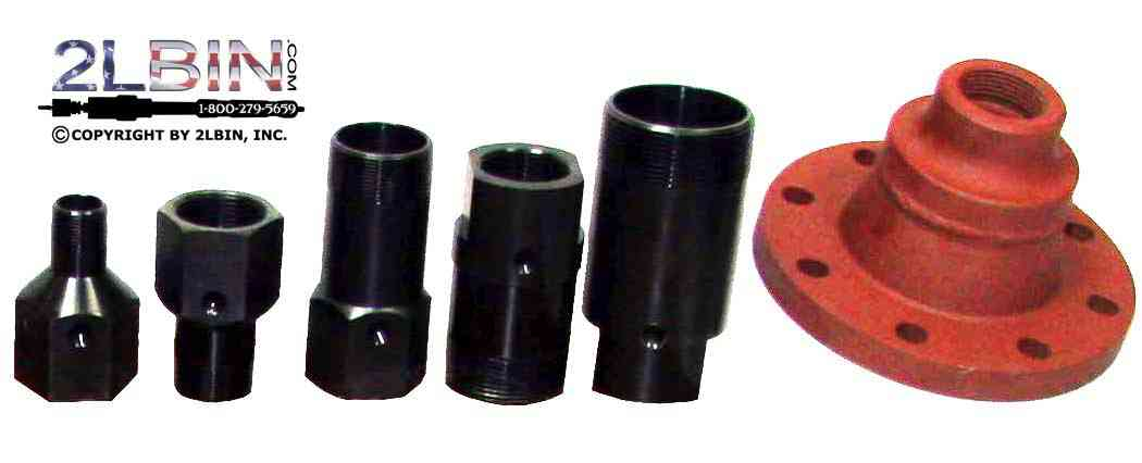 Threaded national iron pipe tapping adaptor with a 1/4inch IP bleed off port